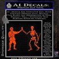 Jolly Roger Black Bart Crossbones D1 Decal Sticker Orange Vinyl Emblem 120x120