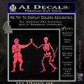 Jolly Roger Black Bart Crossbones D1 Decal Sticker Pink Vinyl Emblem 120x120