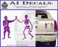 Jolly Roger Black Bart Crossbones D1 Decal Sticker Purple Vinyl 120x97