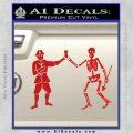 Jolly Roger Black Bart Crossbones D1 Decal Sticker Red Vinyl 120x120