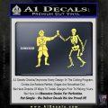 Jolly Roger Black Bart Crossbones D1 Decal Sticker Yelllow Vinyl 120x120