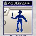 Jolly Roger Black Bart Crossbones D2 Decal Sticker Blue Vinyl 120x120