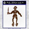 Jolly Roger Black Bart Crossbones D2 Decal Sticker Brown Vinyl 120x120