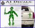 Jolly Roger Black Bart Crossbones D2 Decal Sticker Green Vinyl 120x97