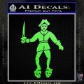 Jolly Roger Black Bart Crossbones D2 Decal Sticker Lime Green Vinyl 120x120