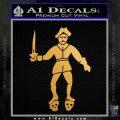 Jolly Roger Black Bart Crossbones D2 Decal Sticker Metallic Gold Vinyl 120x120
