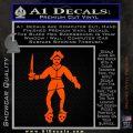 Jolly Roger Black Bart Crossbones D2 Decal Sticker Orange Vinyl Emblem 120x120