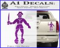Jolly Roger Black Bart Crossbones D2 Decal Sticker Purple Vinyl 120x97