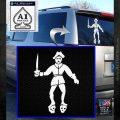 Jolly Roger Black Bart Crossbones D2 Decal Sticker White Emblem 120x120