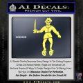 Jolly Roger Black Bart Crossbones D2 Decal Sticker Yelllow Vinyl 120x120