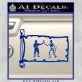 Jolly Roger Black Bart Pirate Flag INT D1 Decal Sticker Blue Vinyl 120x120