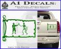 Jolly Roger Black Bart Pirate Flag INT D1 Decal Sticker Green Vinyl 120x97