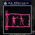 Jolly Roger Black Bart Pirate Flag INT D1 Decal Sticker Hot Pink Vinyl 120x120