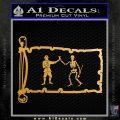 Jolly Roger Black Bart Pirate Flag INT D1 Decal Sticker Metallic Gold Vinyl 120x120