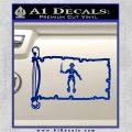 Jolly Roger Black Bart Pirate Flag INT D2 Decal Sticker Blue Vinyl 120x120