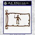 Jolly Roger Black Bart Pirate Flag INT D2 Decal Sticker Brown Vinyl 120x120