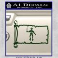 Jolly Roger Black Bart Pirate Flag INT D2 Decal Sticker Dark Green Vinyl 120x120