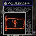 Jolly Roger Black Bart Pirate Flag INT D2 Decal Sticker Orange Vinyl Emblem 120x120