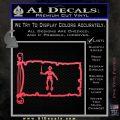 Jolly Roger Black Bart Pirate Flag INT D2 Decal Sticker Pink Vinyl Emblem 120x120