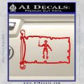 Jolly Roger Black Bart Pirate Flag INT D2 Decal Sticker Red Vinyl 120x120