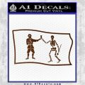 Jolly Roger Black Bart Pirate Flag SL D1 Decal Sticker Brown Vinyl 120x120