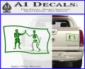 Jolly Roger Black Bart Pirate Flag SL D1 Decal Sticker Green Vinyl 120x97
