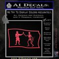 Jolly Roger Black Bart Pirate Flag SL D1 Decal Sticker Pink Vinyl Emblem 120x120