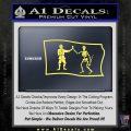 Jolly Roger Black Bart Pirate Flag SL D1 Decal Sticker Yelllow Vinyl 120x120