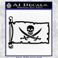 Jolly Roger Calico Jack Rackham Pirate Flag INT Decal Sticker Black Logo Emblem 120x120