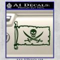 Jolly Roger Calico Jack Rackham Pirate Flag INT Decal Sticker Dark Green Vinyl 120x120