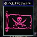 Jolly Roger Calico Jack Rackham Pirate Flag INT Decal Sticker Hot Pink Vinyl 120x120