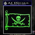 Jolly Roger Calico Jack Rackham Pirate Flag INT Decal Sticker Lime Green Vinyl 120x120