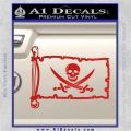 Jolly Roger Calico Jack Rackham Pirate Flag INT Decal Sticker Red Vinyl 120x120