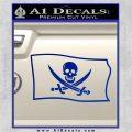 Jolly Roger Calico Jack Rackham Pirate Flag SL Decal Sticker Blue Vinyl 120x120