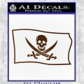 Jolly Roger Calico Jack Rackham Pirate Flag SL Decal Sticker Brown Vinyl 120x120