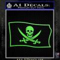 Jolly Roger Calico Jack Rackham Pirate Flag SL Decal Sticker Lime Green Vinyl 120x120