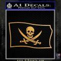 Jolly Roger Calico Jack Rackham Pirate Flag SL Decal Sticker Metallic Gold Vinyl 120x120