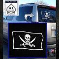 Jolly Roger Calico Jack Rackham Pirate Flag SL Decal Sticker White Emblem 120x120