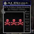 Jolly Roger Christopher Condent Crossbones Decal Sticker Pink Vinyl Emblem 120x120