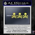 Jolly Roger Christopher Condent Crossbones Decal Sticker Yelllow Vinyl 120x120