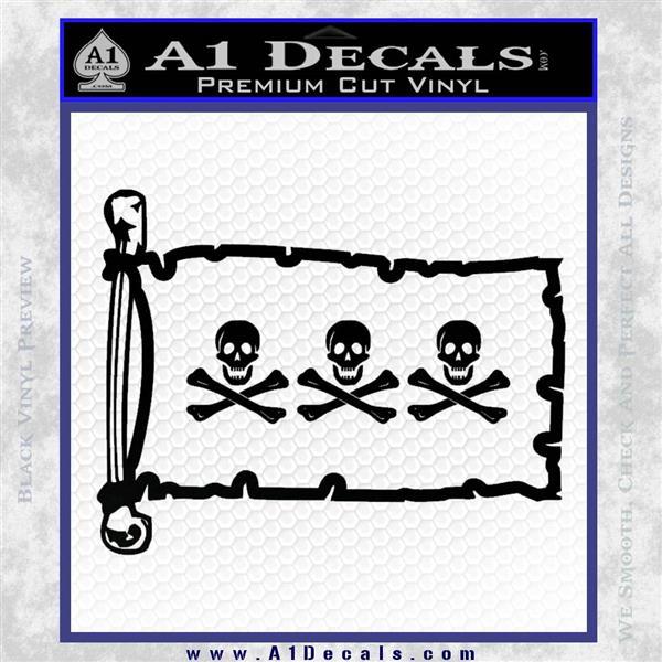 Jolly Roger Christopher Condent Pirate Flag INT Decal Sticker Black Logo Emblem
