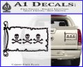Jolly Roger Christopher Condent Pirate Flag INT Decal Sticker Carbon Fiber Black 120x97
