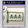 Jolly Roger Christopher Condent Pirate Flag INT Decal Sticker Dark Green Vinyl 120x120