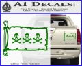 Jolly Roger Christopher Condent Pirate Flag INT Decal Sticker Green Vinyl 120x97