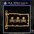 Jolly Roger Christopher Condent Pirate Flag INT Decal Sticker Metallic Gold Vinyl 120x120