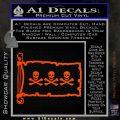 Jolly Roger Christopher Condent Pirate Flag INT Decal Sticker Orange Vinyl Emblem 120x120