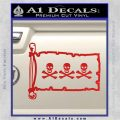 Jolly Roger Christopher Condent Pirate Flag INT Decal Sticker Red Vinyl 120x120