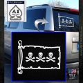 Jolly Roger Christopher Condent Pirate Flag INT Decal Sticker White Emblem 120x120