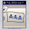 Jolly Roger Christopher Condent Pirate Flag SL Decal Sticker Blue Vinyl 120x120