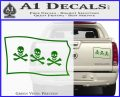 Jolly Roger Christopher Condent Pirate Flag SL Decal Sticker Green Vinyl 120x97
